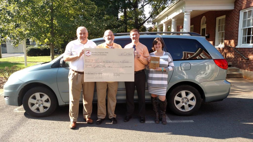KOVAR Purchases an 8- Passenger Van for The Arc of the Piedmont Crozet Residential Home